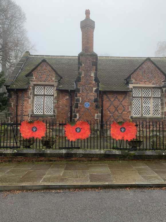 Village Hall Railings Remembrance Sunday 2020